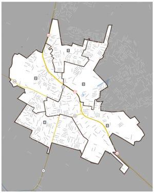 Salinas City Elementary School District school board trustee areas, with District 3 encompassing  the northeast area of Salinas.
