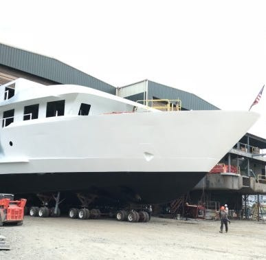 Chesapeake Shipbuilding making big progress on American Cruise Lines vessel