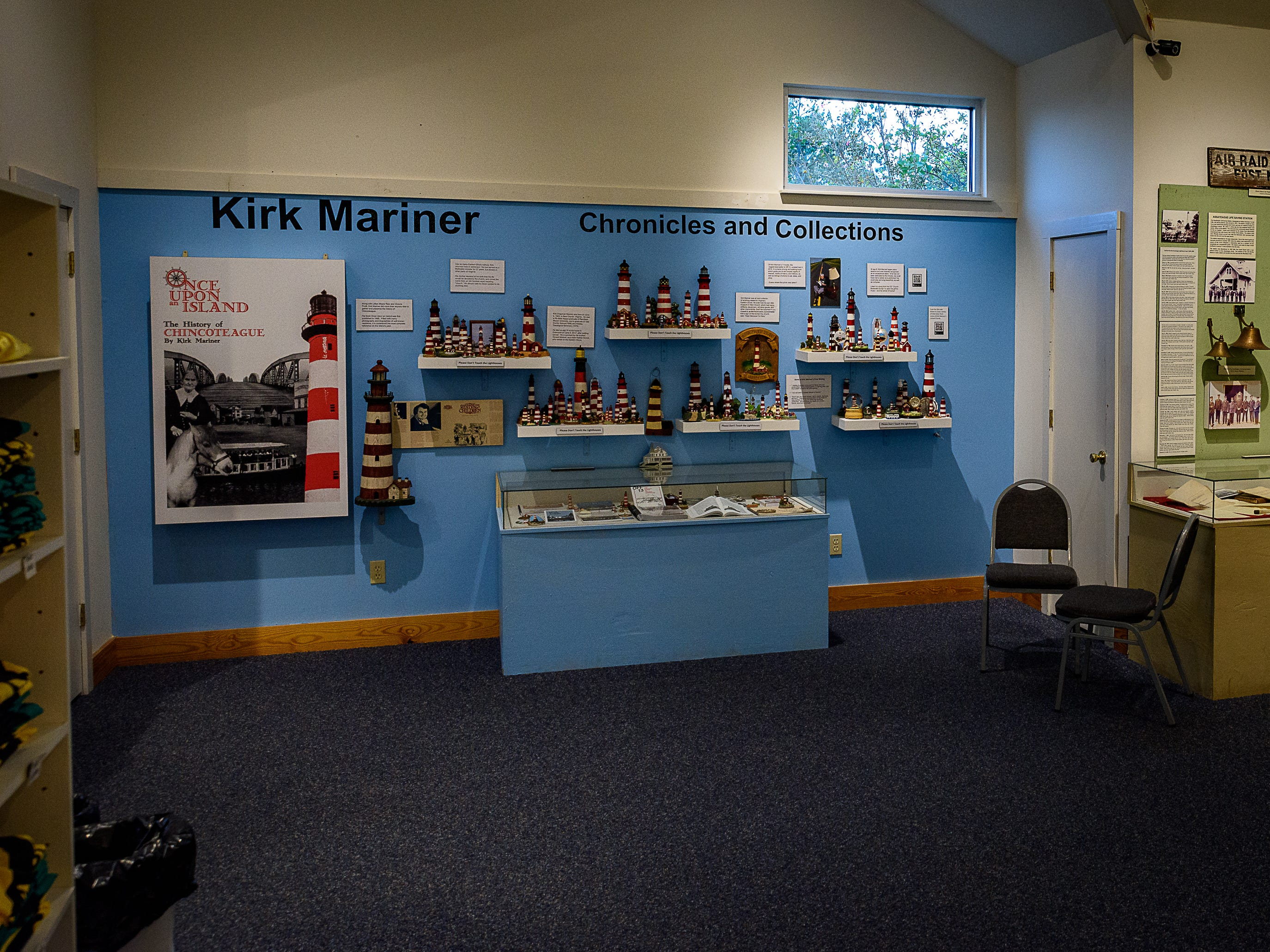 The Kirk Mariner Assateague Lighthouse collection is now on exhibit at the Museum of Chincoteague.