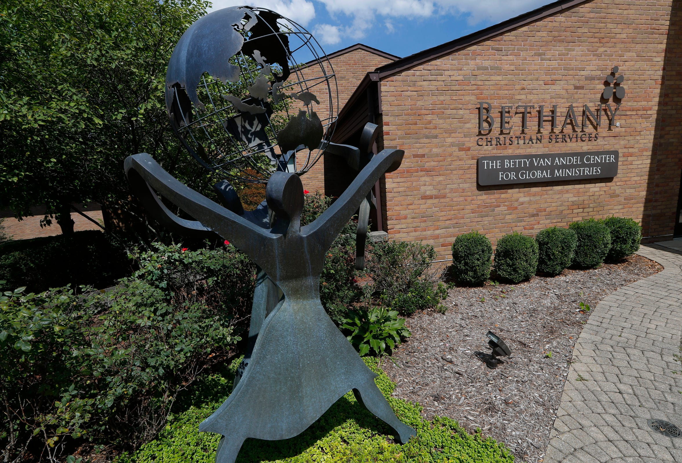 This Thursday, Aug. 23, 2018 photo shows the Bethany Christian Services in Grand Rapids, Mich. Bethany is one of the nation's largest adoption agencies. (AP Photo/Paul Sancya)