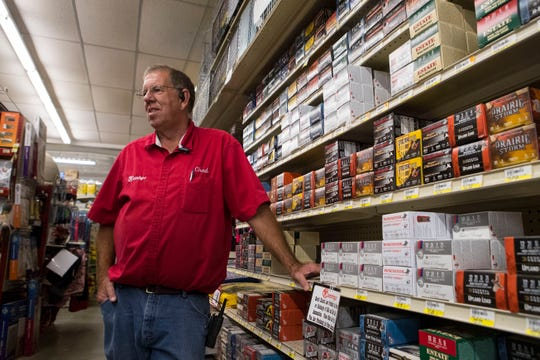 Chad Stevicks, manager of the Runnings store in Gregory, talks about getting ready for the pheasant hunting season, Sept. 25, 2018. Runnings becomes ground zero for out-of-town hunters looking for clothes, hunting permits and shotgun shells.