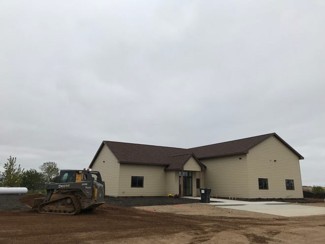A photo of the Hindu Temple of Siouxland, opening Sunday near Tea.
