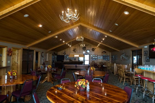 The main dining hall in Biggins Hunting Lodge, owned by Gregg and Be Biggins, located just west of Gregory is shown on Tuesday, Sept. 25, 2018.