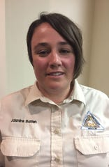 Jasmine Batten, wildlife disease specialist with the Missouri Department of Conservation