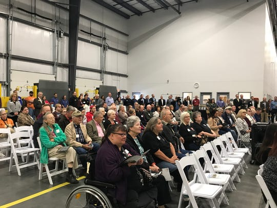 Donors, volunteers, agencies , staff and media were invited to attend the ribbon cutting at the Ozarks Food Harvest 56,000 square food distribution center expansion Thursday.