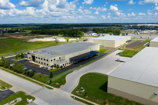 Pictured is the original O'Reilly Center for Hunger Relief building (on left) and the new 56,000 square-foot distribution center expansion behind it.