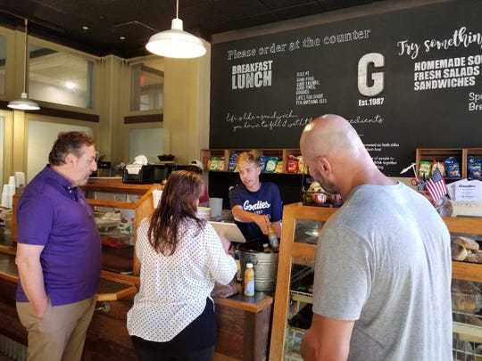 Goodies Eatery downtown was packed with customers since it was one of the few Tallahassee restaurants that opened Thursday after Hurricane Michael ripped through the city.