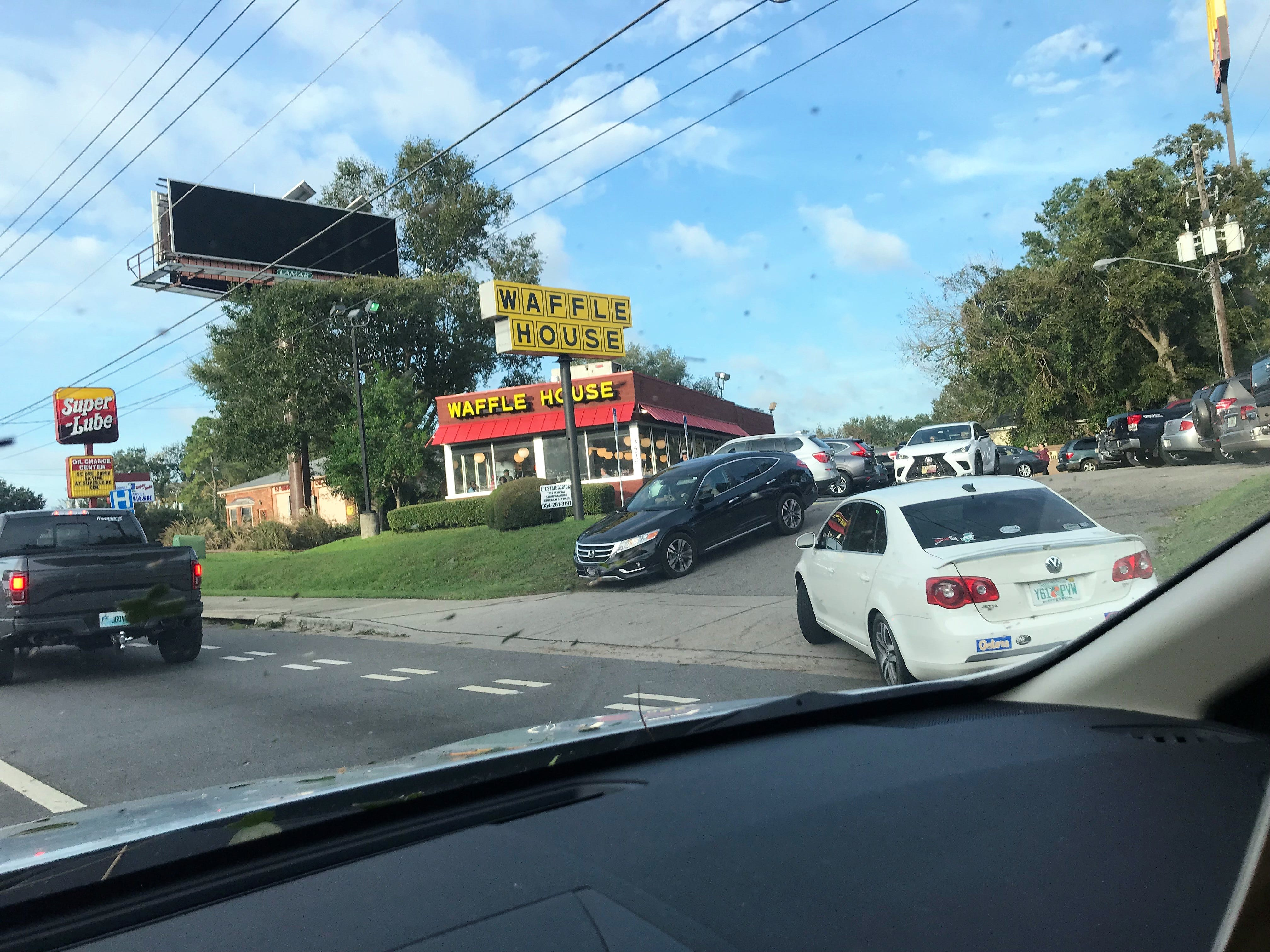 Tallahassee residents converge on Waffle House in North East Tallahassee.