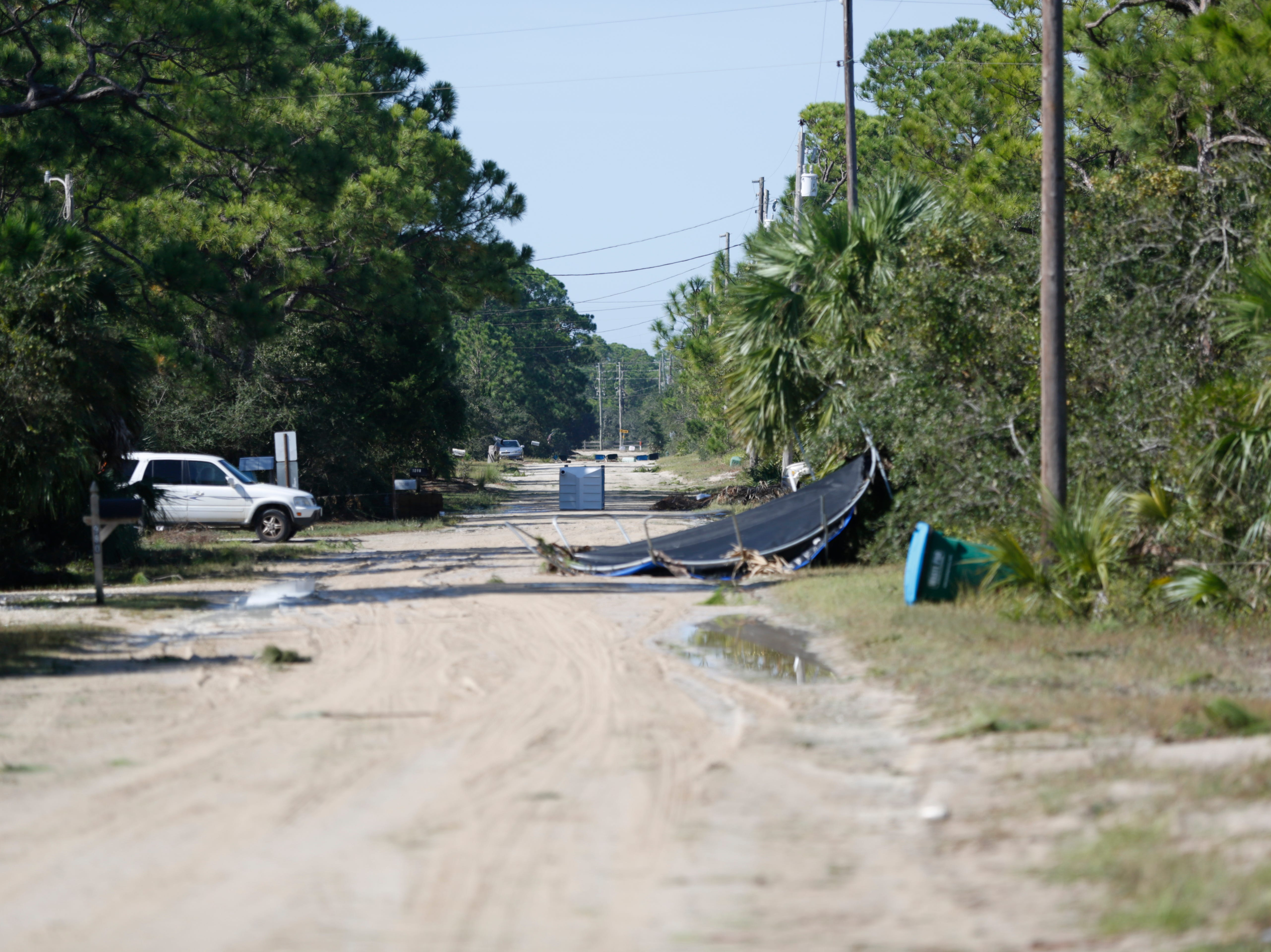 Destruction from Hurricane Michael is seen in St. George Island, Fla. Thursday, Oct. 11, 2018.