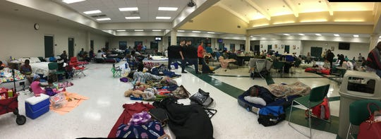 Lincoln High school sheltered 276 residents fleeing Hurricane Michael's wrath Wednesday, Oct. 10, 2018.