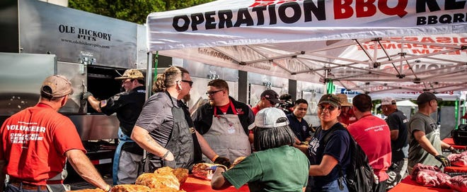 Chefs from Operation BBQ Relief provided free meals at the Centre of Tallahassee to those displaced or in need following Hurricane Michael. The volunteers worked with the Salvation Army on the effort.