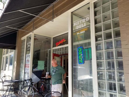Metro Deli downtown was one of the few restaurants that opened Thursday following Hurricane Michael's march through Tallahassee.