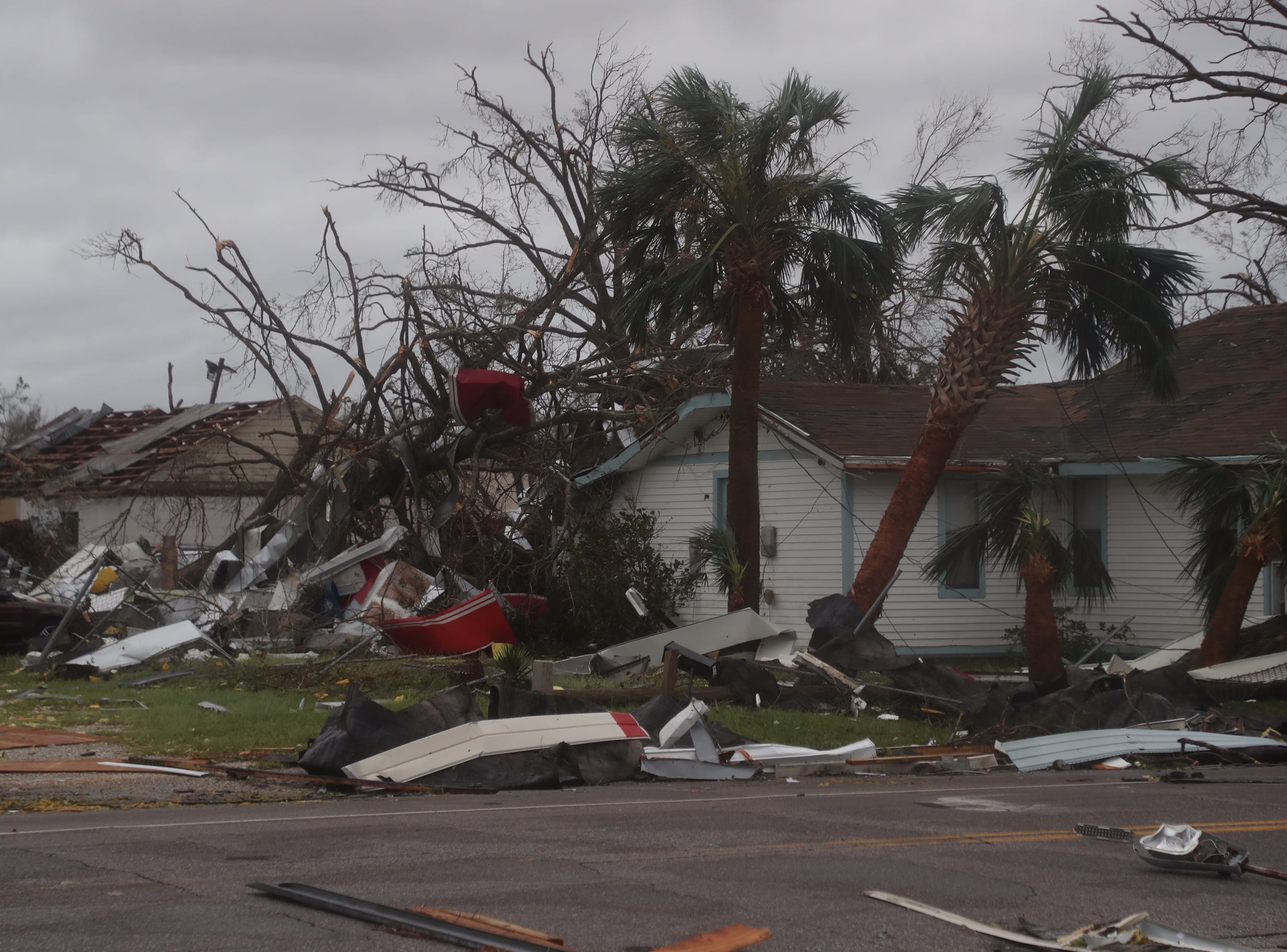 Damage from Hurricane Michael is seen in Panama City, Fla., Wednesday, Oct. 10, 2018.