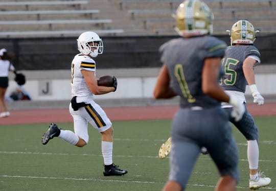Jadon Cline and Ventura High hope to run away from rival Buena on Friday night and earn their first win of the season.