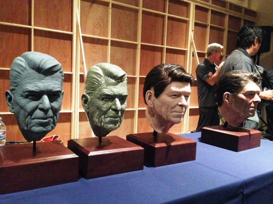 These models of President Ronald Reagan's face were used in the creation of a new hologram exhibit at the Ronald Reagan Presidential Library & Museum in Simi Valley.