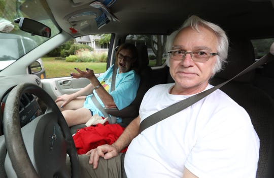Linda and Buddy Clark of Northvale N.J. drove by to see the home of suspected bomber Paul Rosenfeld in Tappan Oct. 11, 2018.