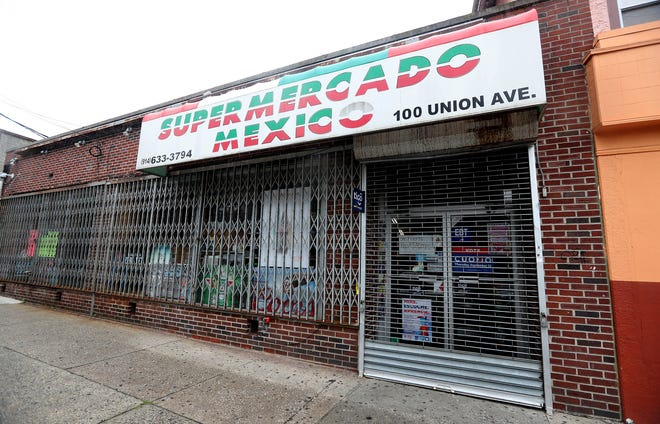 The Supermercado Mexico grocery store on Union Ave. in New Rochelle was closed after the FBI raided it Oct. 11, 2018. The raid was part of a drug and gang investigation.
