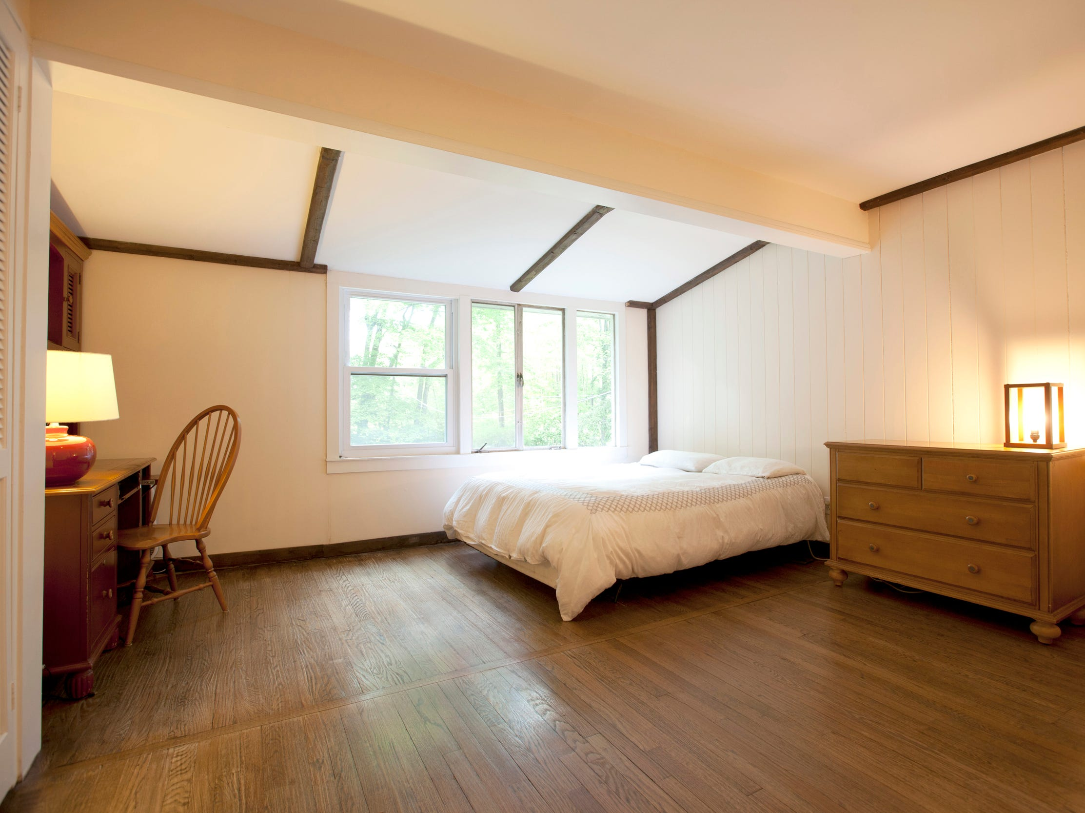 One of the four bedrooms.