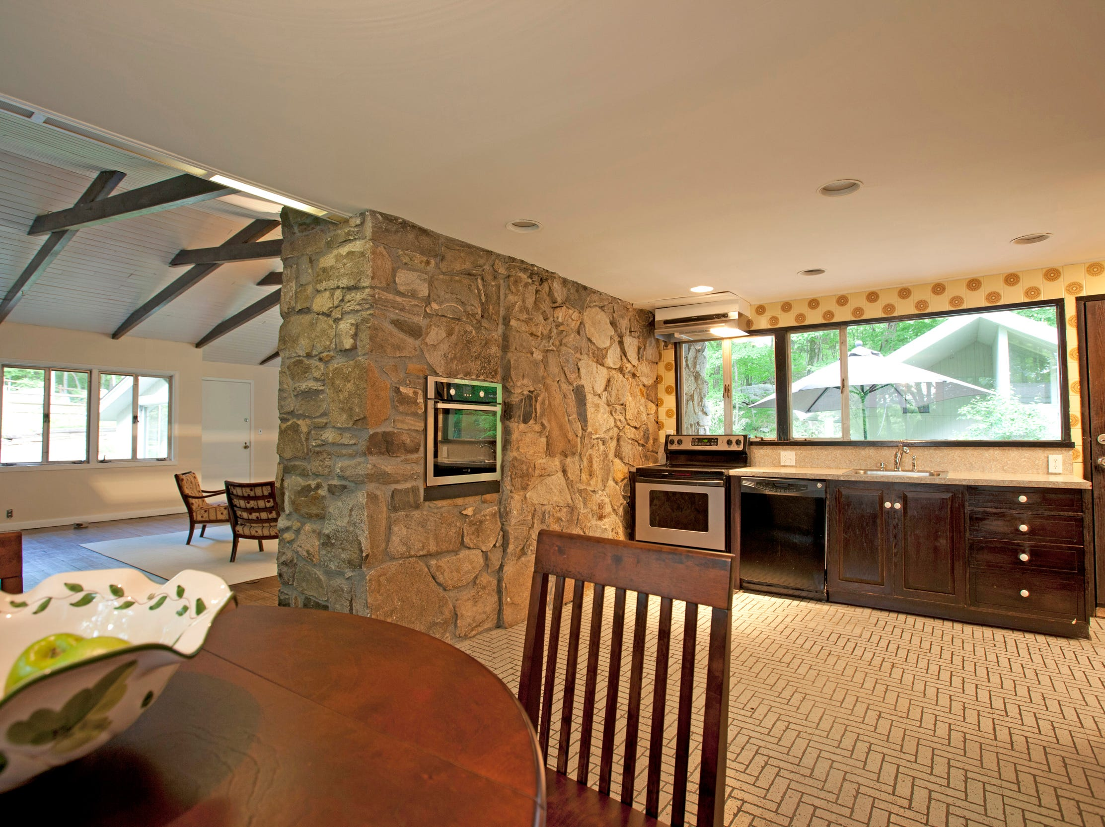 This Midcentury modern home, now on the market in Pound RIdge, was once owned by legendary sportscaster Howard Cosell.