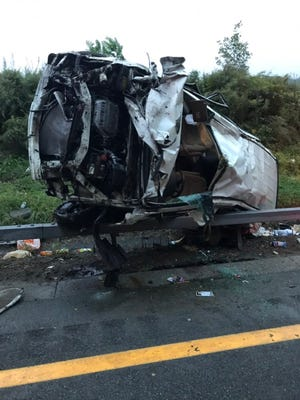 A car rolled over and three kids were ejected in a serious crash on the Taconic State Parkway