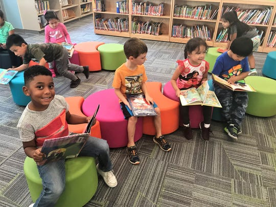 Students who attend the Park Early Childhood Center in Ossining enjoy a new library unveiled in October 2018.