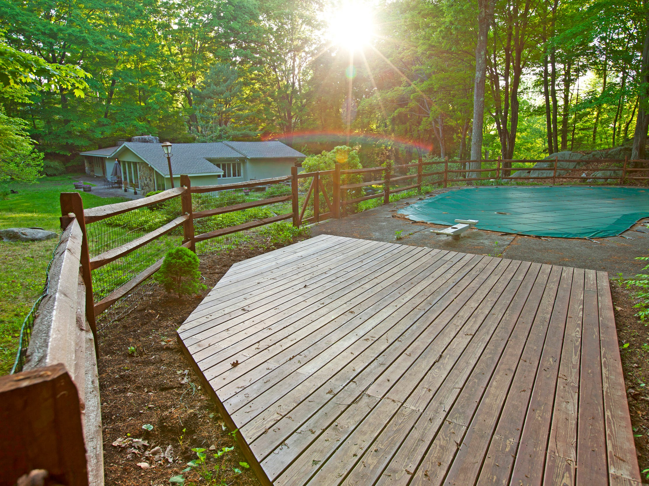 The home is one 4 acres of property in Pound Ridge