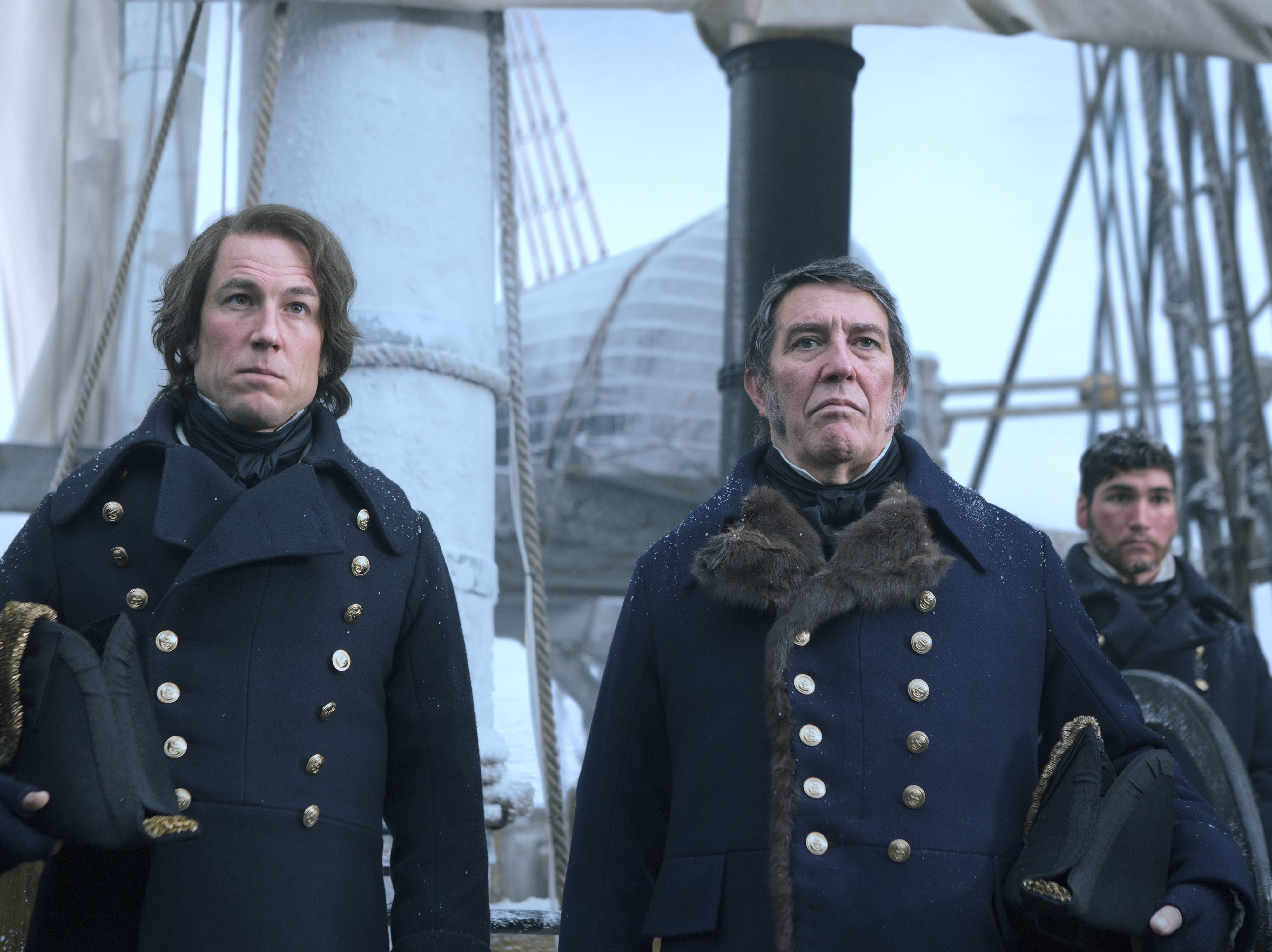 "Tobias Menzies and Ciarán Hinds starred as Royal Navy leaders on ""The Terror."" The AMC series, based on a 2007 novel of the same name, examines the circumstances surrounding a lost Arctic expedition in the 1840s."