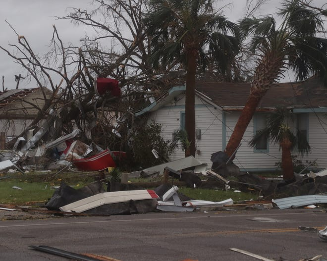 Damage from Hurricane Michael seen in Panama City, Florida.