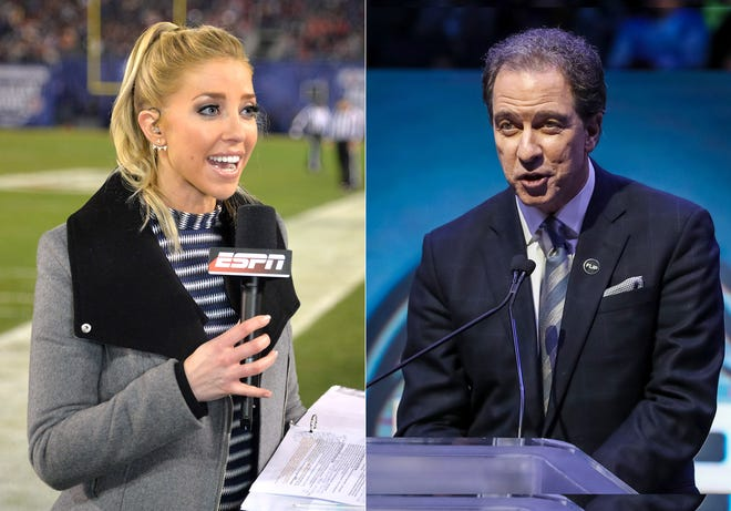Olivia Harlan Dekker and her father, Kevin Harlan.