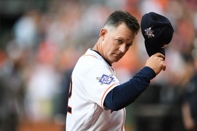 Manager A.J. Hinch led the Astros to the World Series last year.