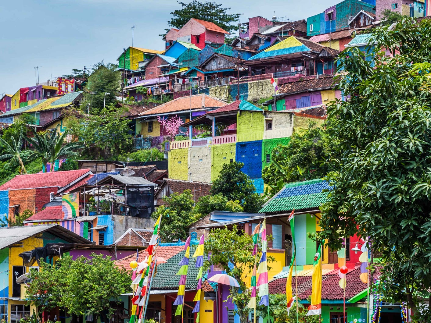 Kampung Pelangi, Indonesia: Known as the Rainbow Village, Kampung Pelangi is a recent entrant onto the list of the world's most colorful cities.
