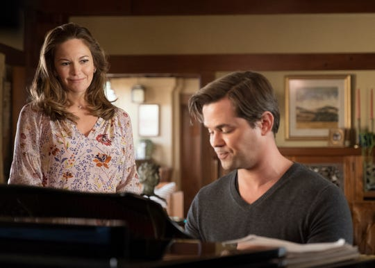 Diane Lane, left, and Andrew Rannells are featured in the 'Bright and High Circle' episode (Nov. 2) of Amazon's 'The Romanoffs.'