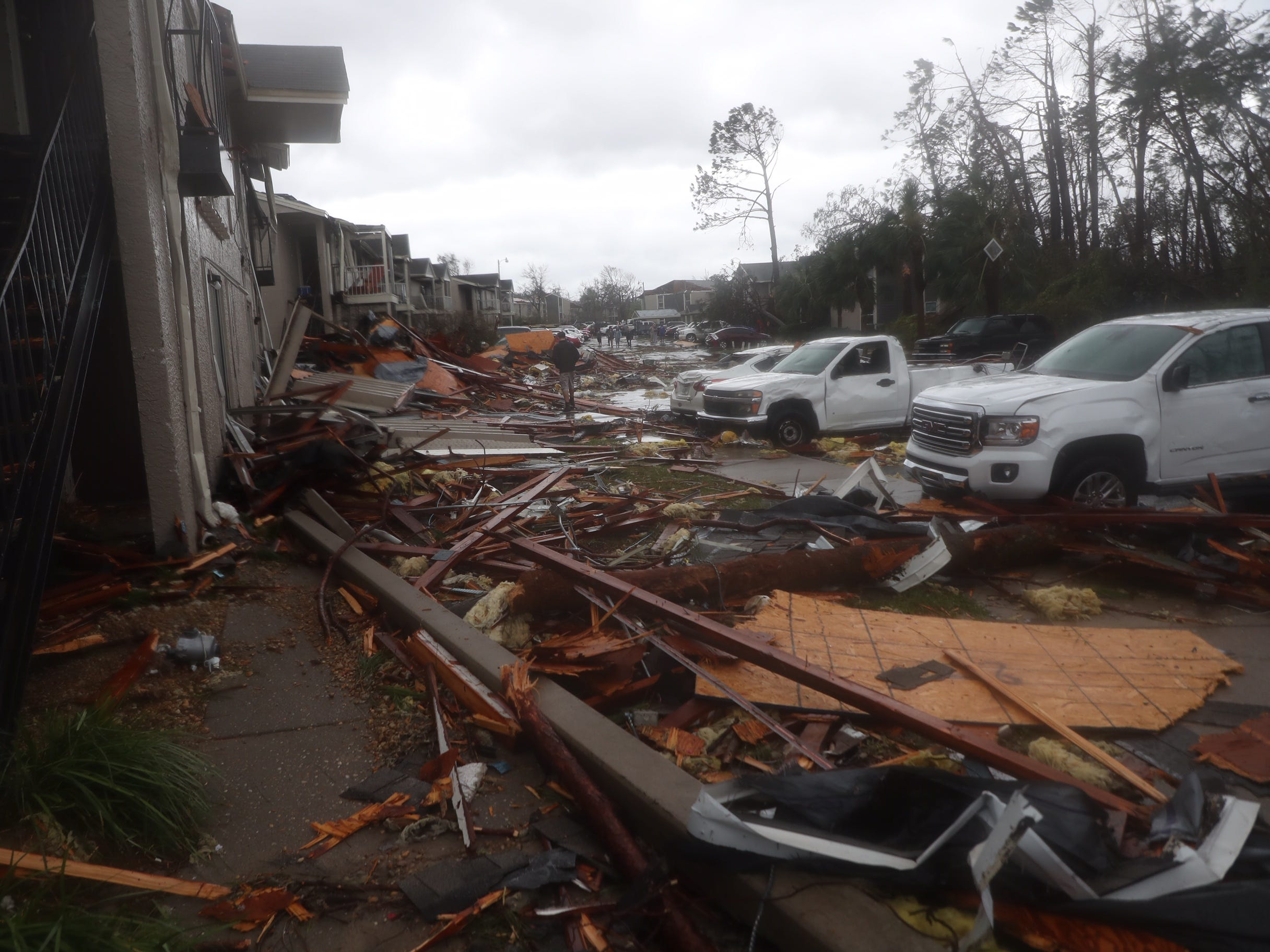 Heavy damage caused by Hurricane Michael in Panama City, Fla., Wednesday, Oct. 10, 2018.