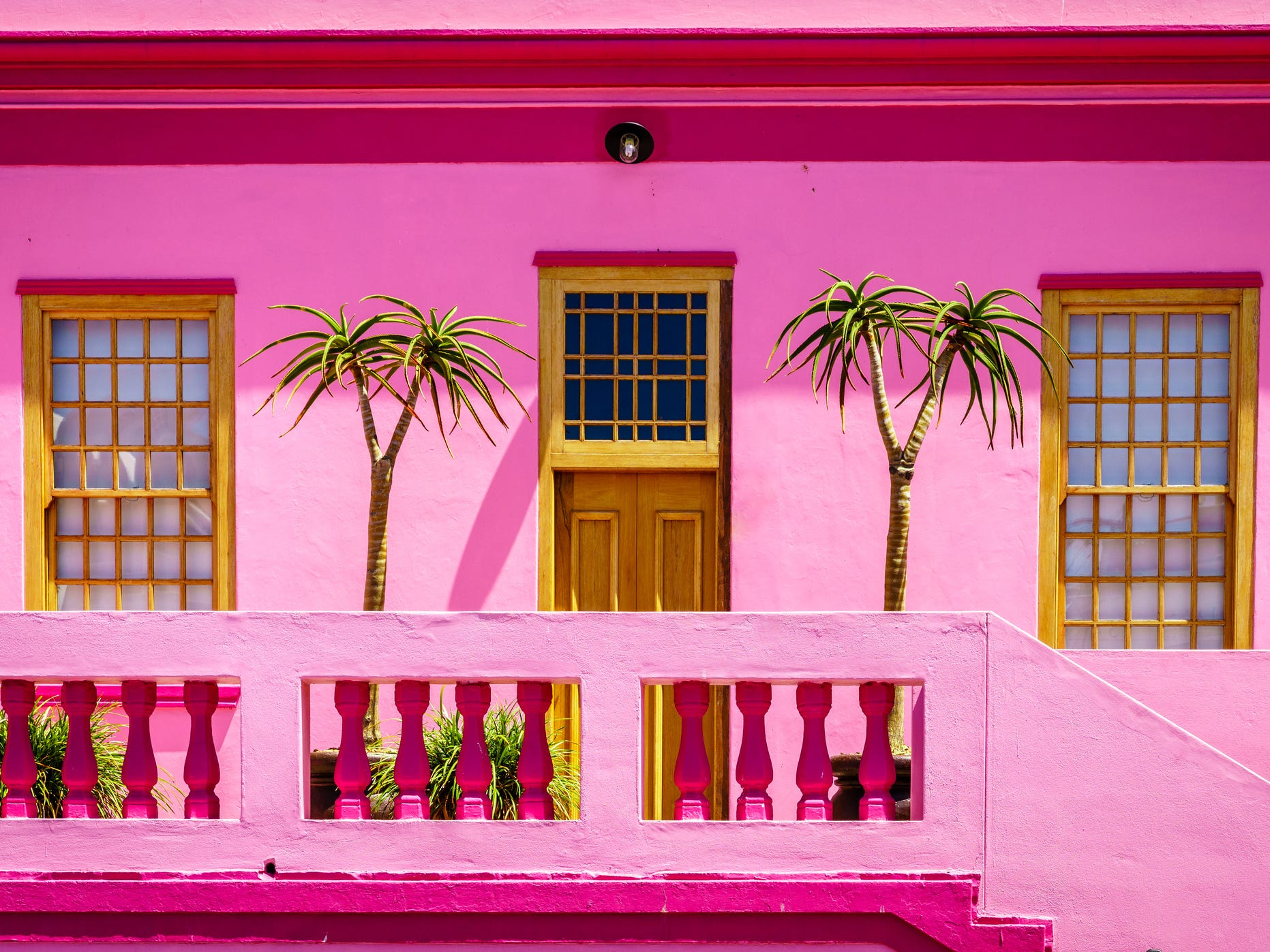 Later, when slaves were given the freedom to buy their homes, they celebrated their liberty by painting their houses the vibrant colors visitors can see today.