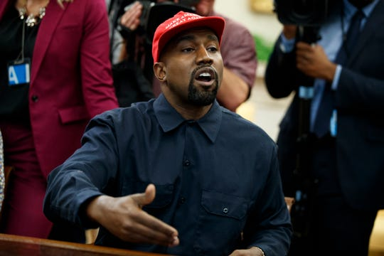 """There was something about when I put this hat on, it made me feel like Superman,"" Kanye West said of his MAGA cap."