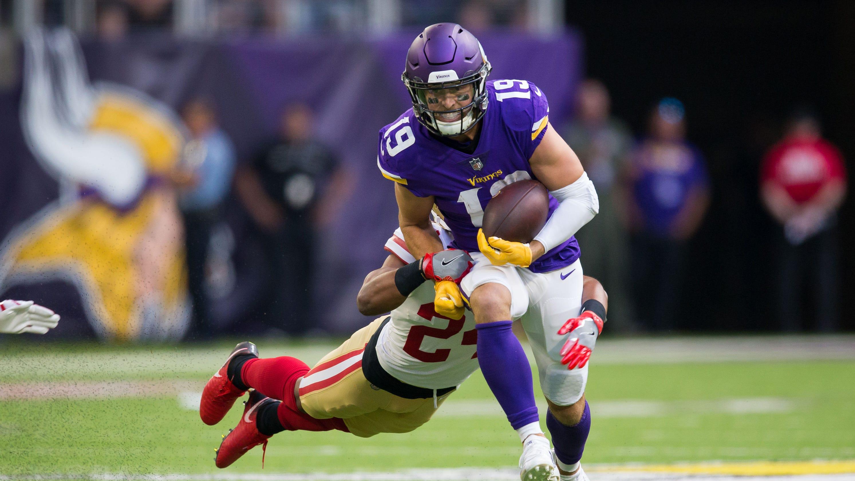 b399fc2a Adam Thielen, Vikings WR, is still overlooked after NFL record start