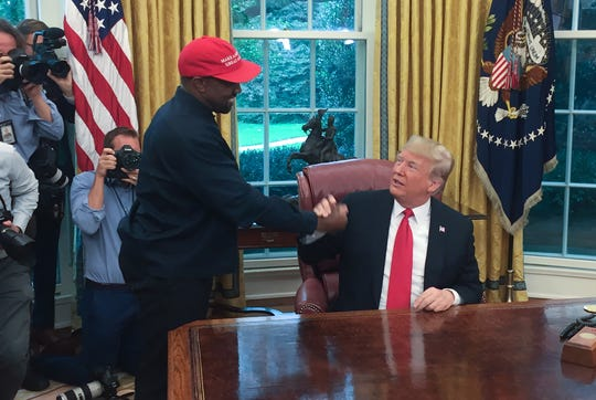 President Trump meets with Kanye West in the Oval Office.