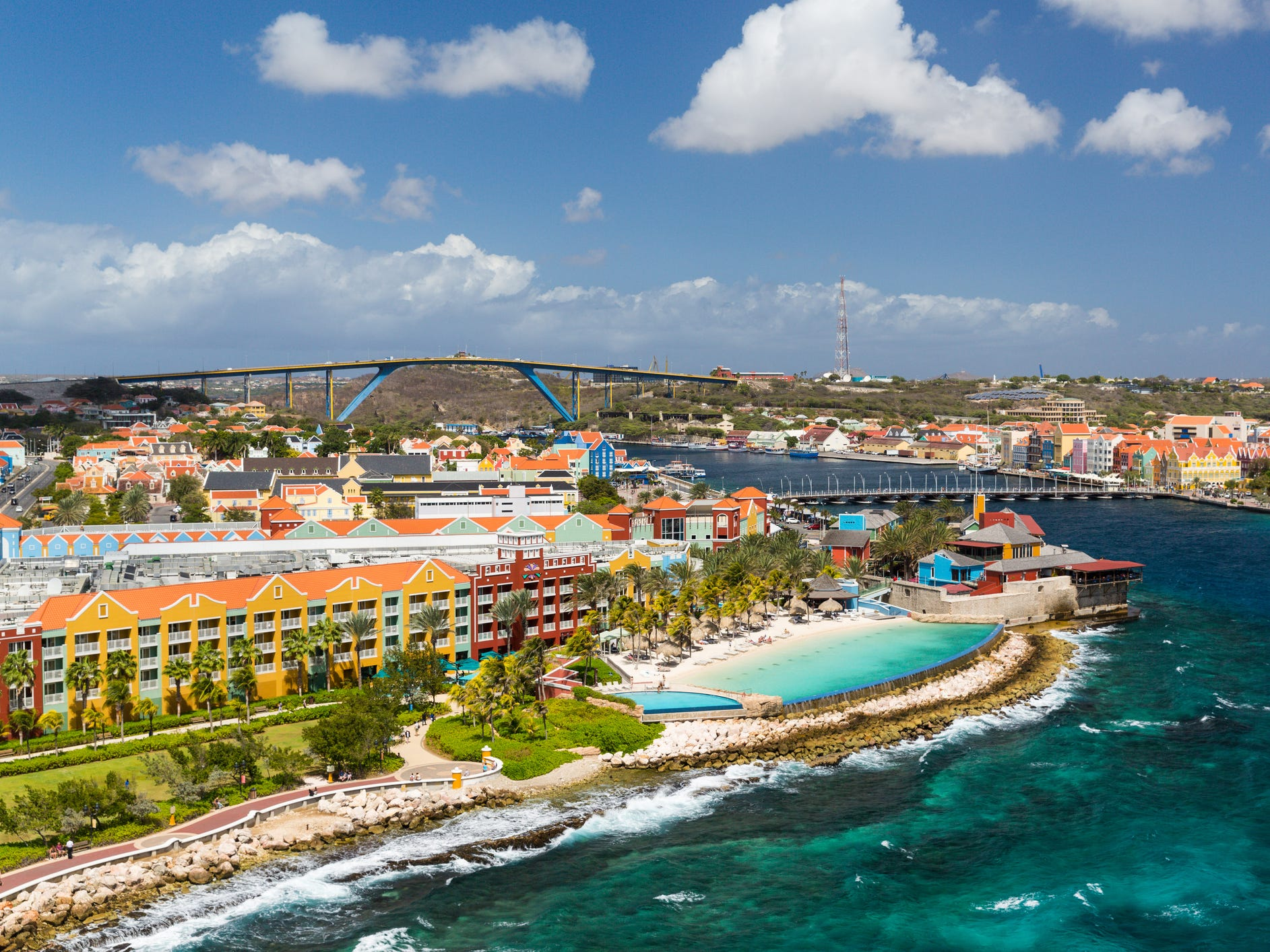 Willemstad, Curacao: The brightly painted Dutch colonial-style buildings of this Caribbean capital have earned a spot on the UNESCO World Heritage list.