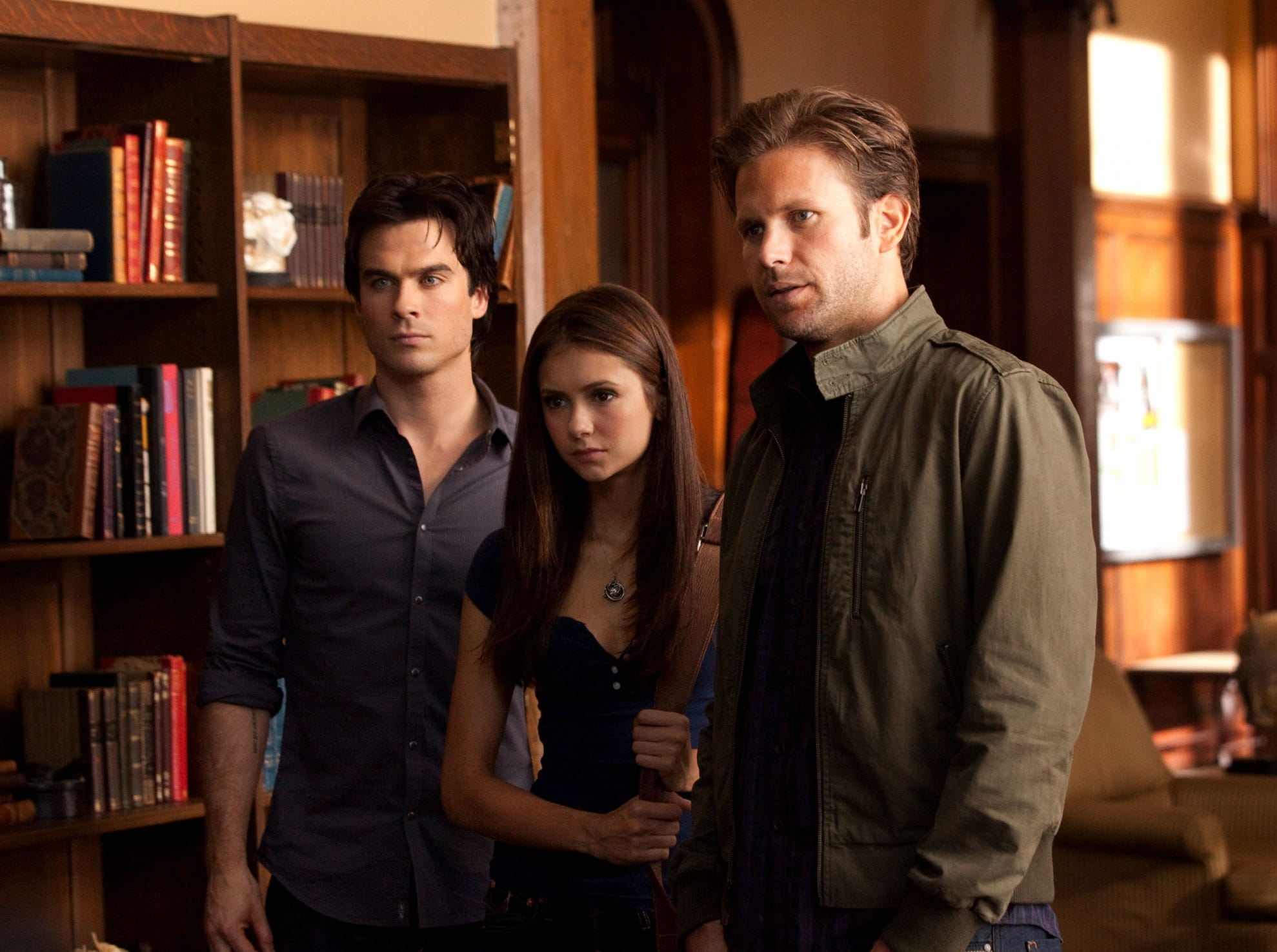 "Ian Somerhalder, Nina Dobrev and Matt Davis starred in the CW series ""The Vampire Diaries"" about a group of vampires who have to face threats in a small town in Virginia."