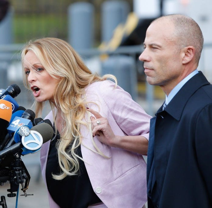 Stormy Daniels and Michael Avenatti, New York, N.Y., April 16, 2018