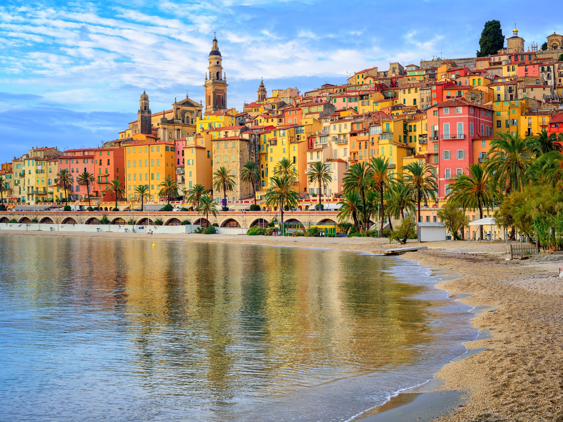 Menton, France: Menton may be less flashy than French Riviera neighbors like St. Tropez and Monaco, but its laid-back vibe and colorful waterfront — with pastel-painted buildings overlooking a sun-splashed sandy beach — make it undeniably appealing to travelers.