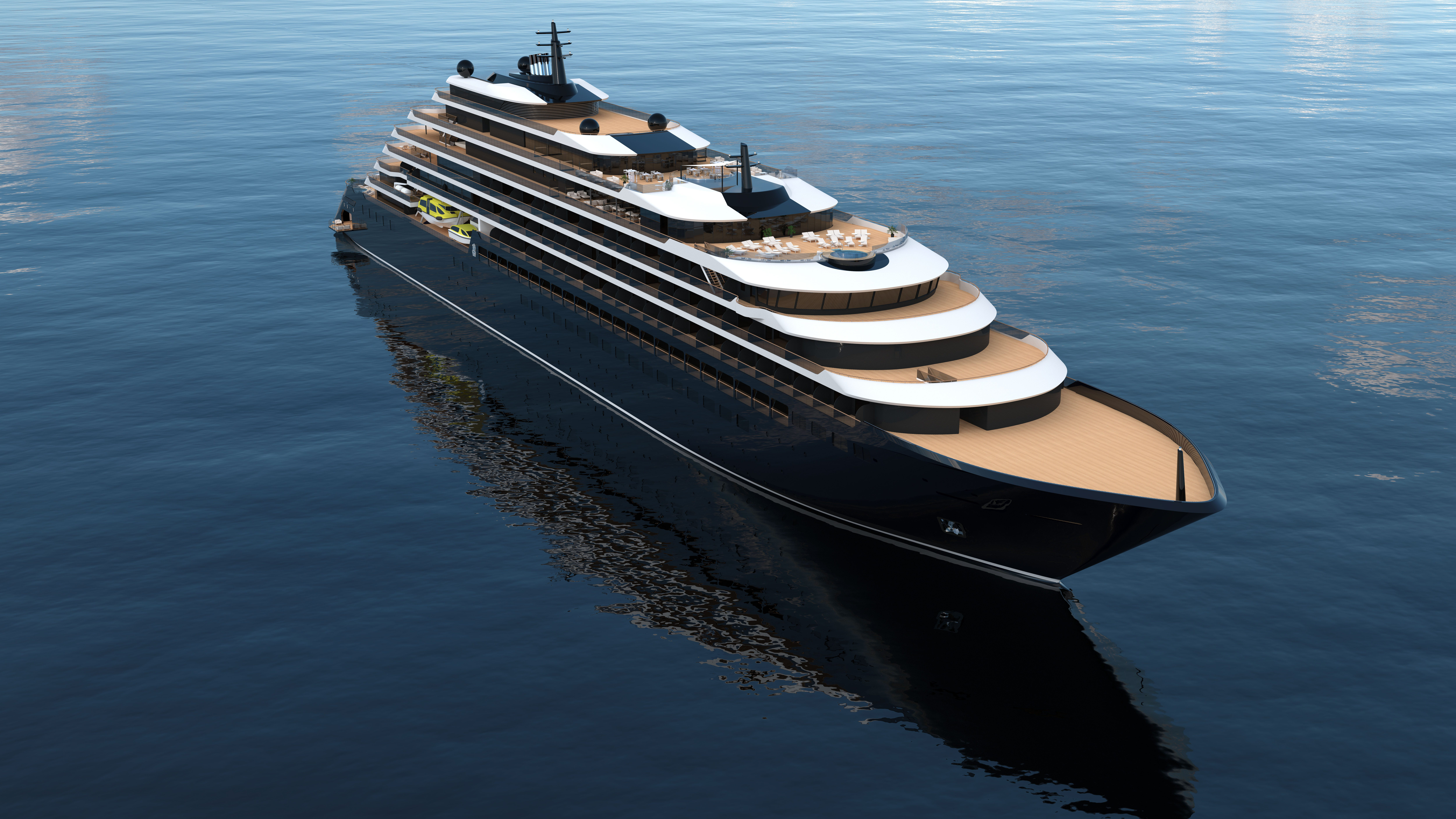 Ritz-Carlton cruise ship takes to the water in Spain; Service starts in late 2019