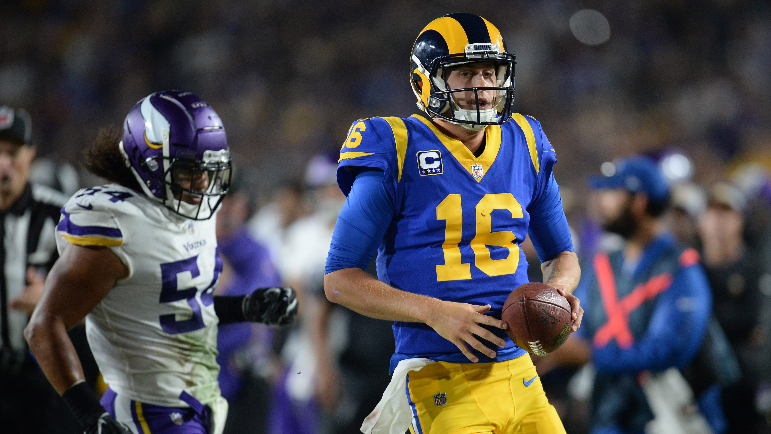 66757aaed14 Los Angeles Rams: Will snow slow Jared Goff and sizzling offense?