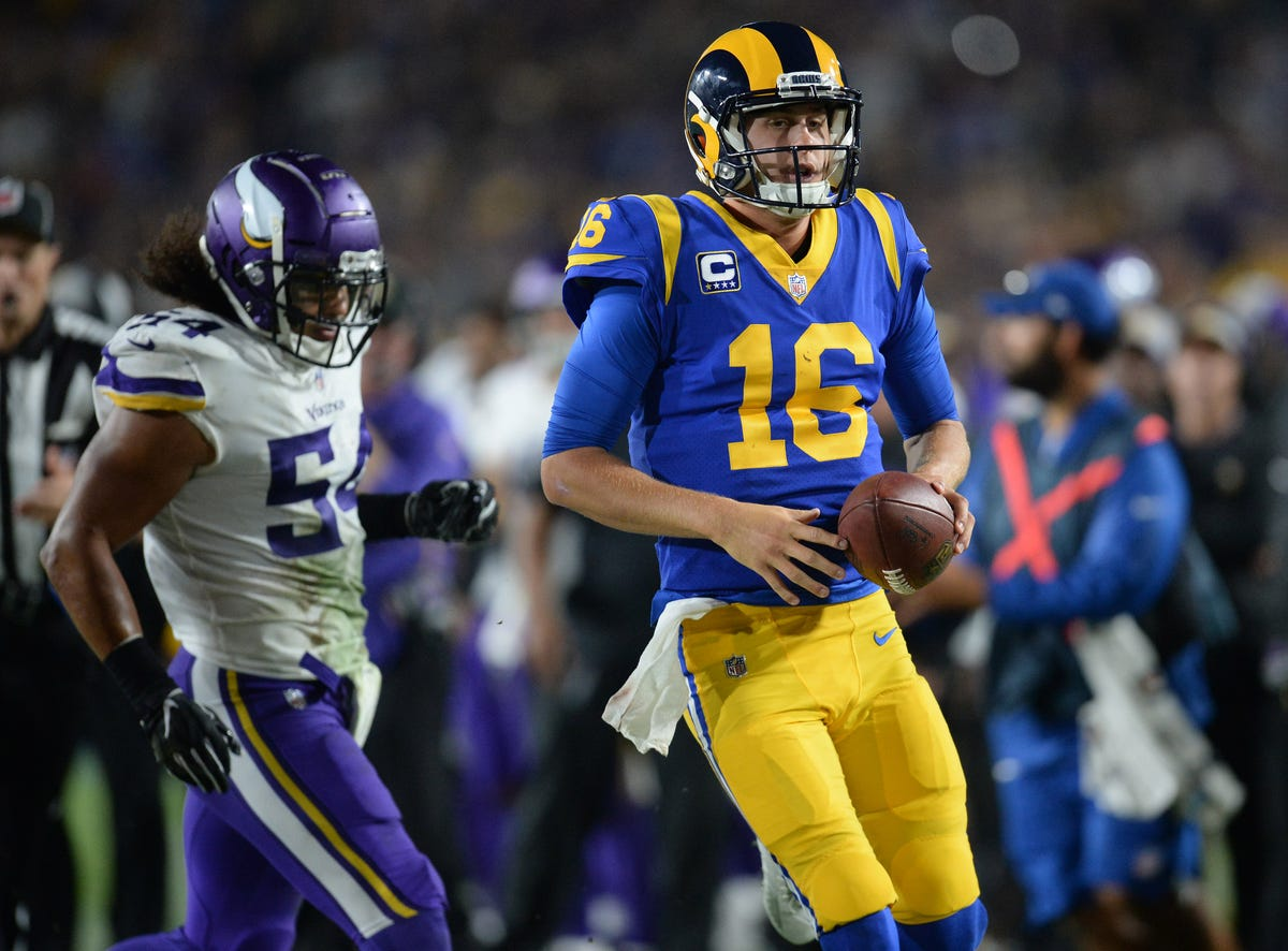 62b73b0a Los Angeles Rams: Will snow slow Jared Goff and sizzling offense?
