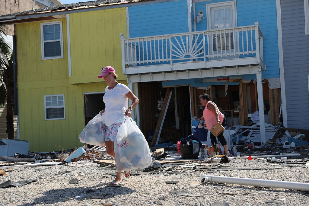 As Hurricane Michael ravages, real evangelicals are quietly volunteering, not grasping for power.