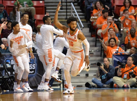 Gabe DeVoe (10) helped lead the Clemson men's basketball team to its best season since Brad Brownell became coach.