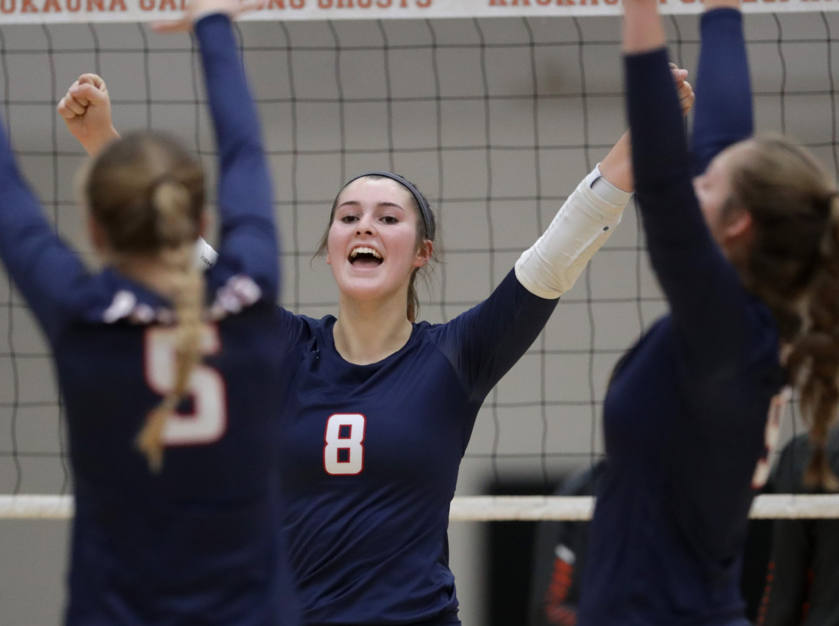 Appleton East High School's #8 Tiffany Paalman against Kaukauna High School during their girls volleyball game on Thursday, October 11, 2018, in Kaukauna, Wis. Wm. Glasheen/USA TODAY NETWORK-Wisconsin.