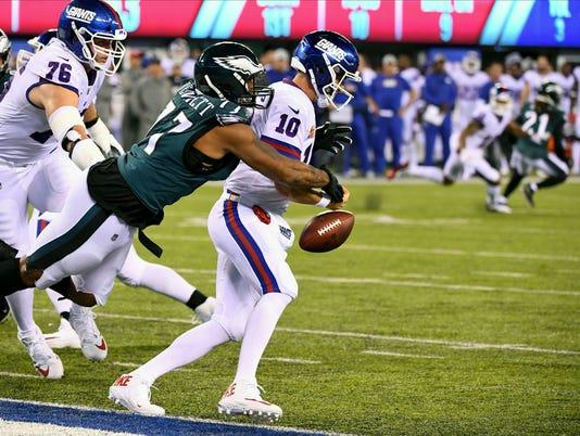 Nfl Philadelphia Eagles At New York Giants