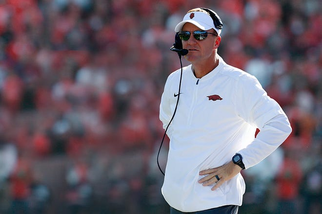 Chad Morris was announced as the Arkansas Razorbacks head coach after leaving SMU in December 2017.