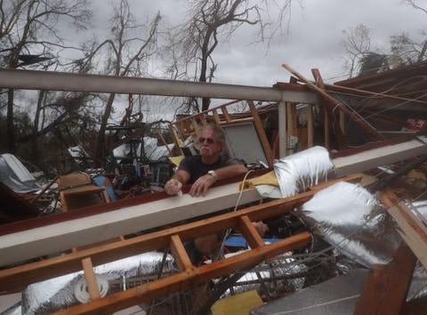 Hurricane Michael damage.